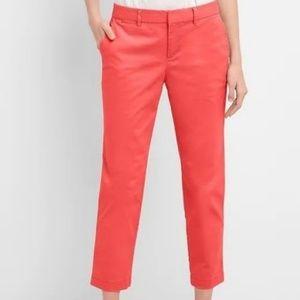 NWT GAP Slim City Crop Pants Cotton Blend Red 4R